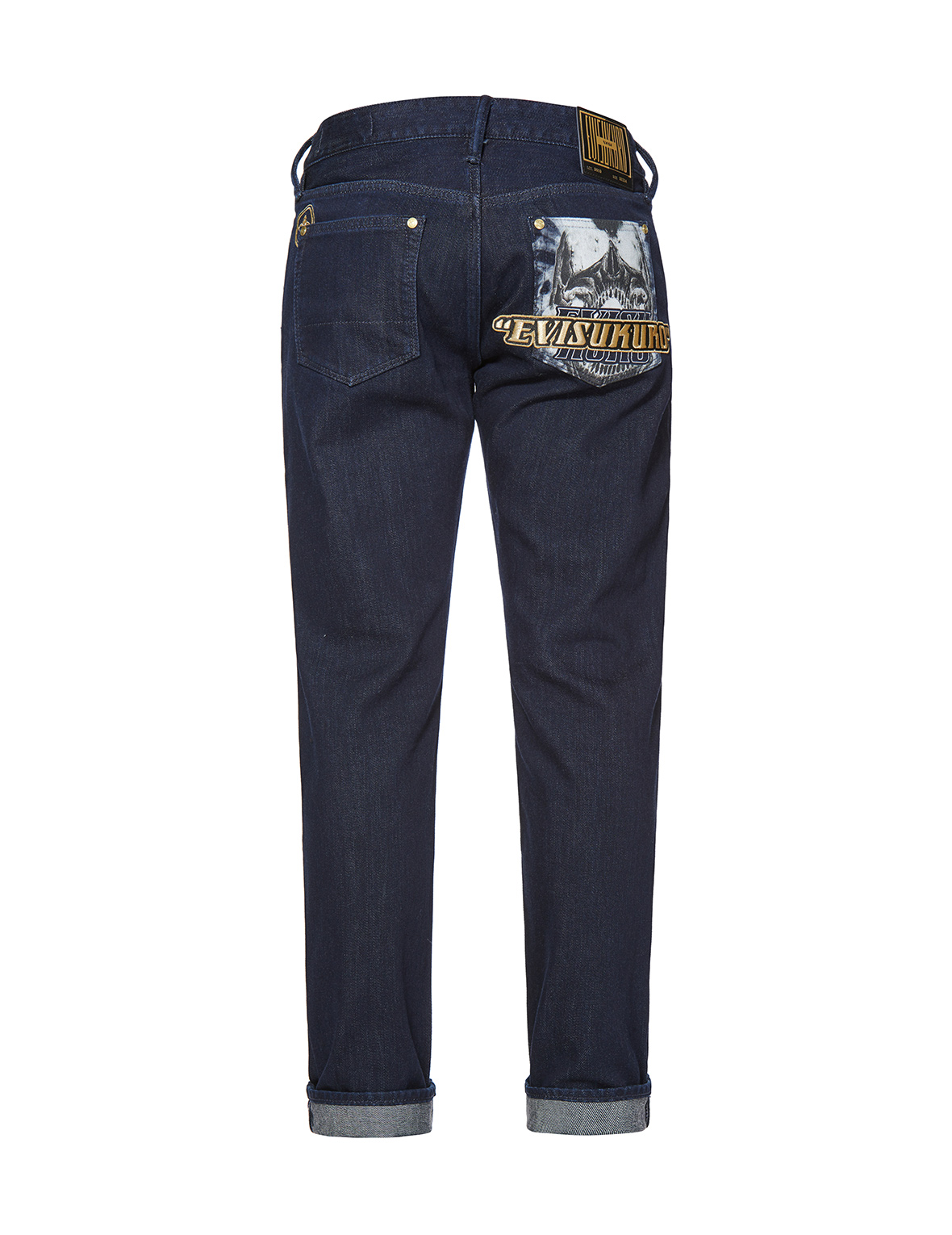 Smoky Hannya Embroidered Slim Fit Jeans #2010