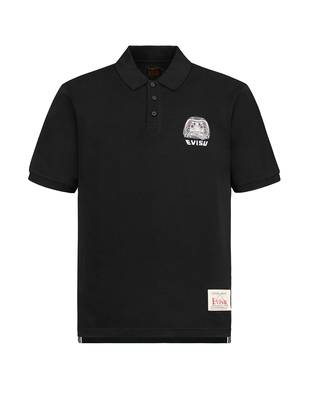 Daruma Badge and Logo Polo Shirt