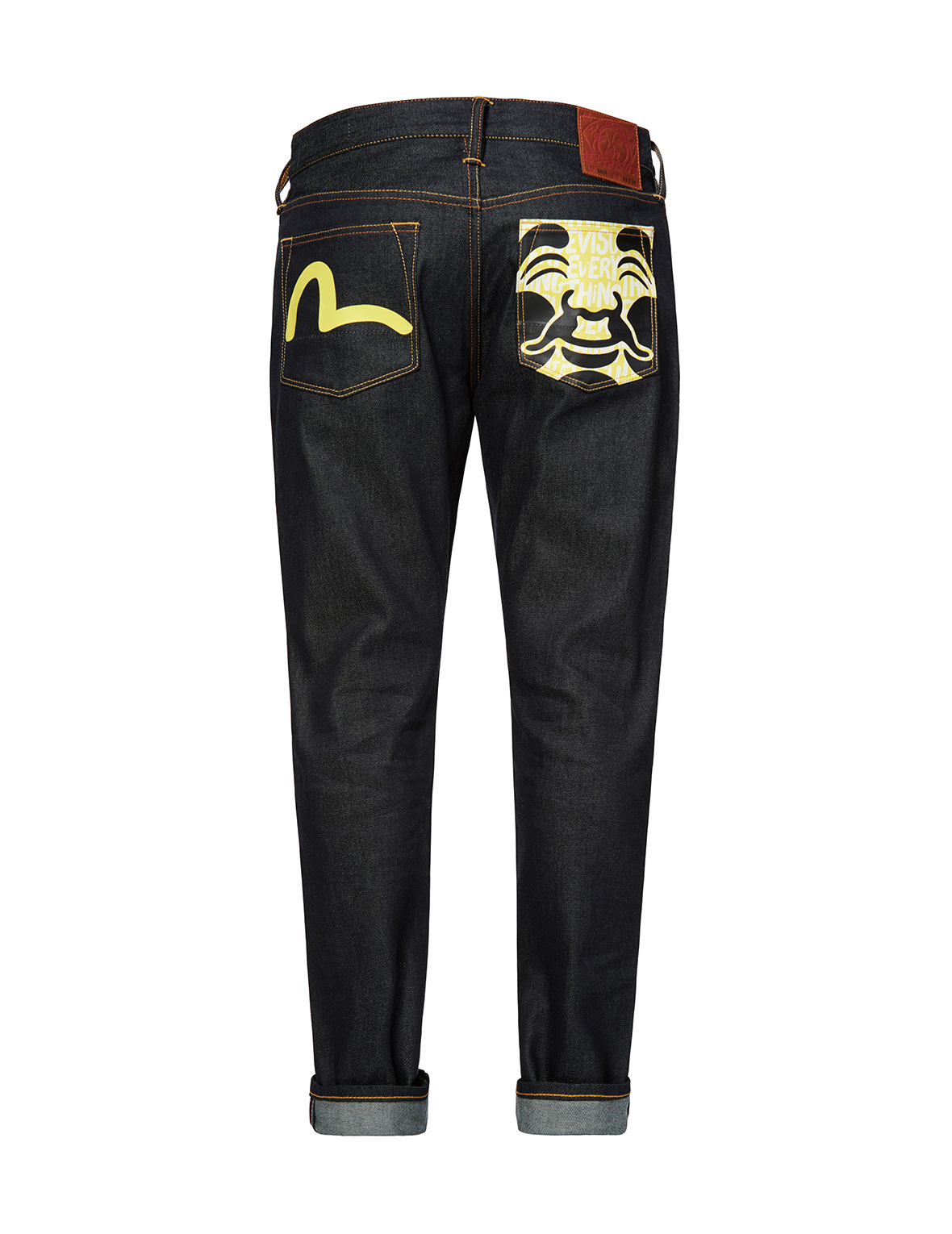 Allover Motto Godhead and Seagull Printed 2017 Carrot Fit Jeans