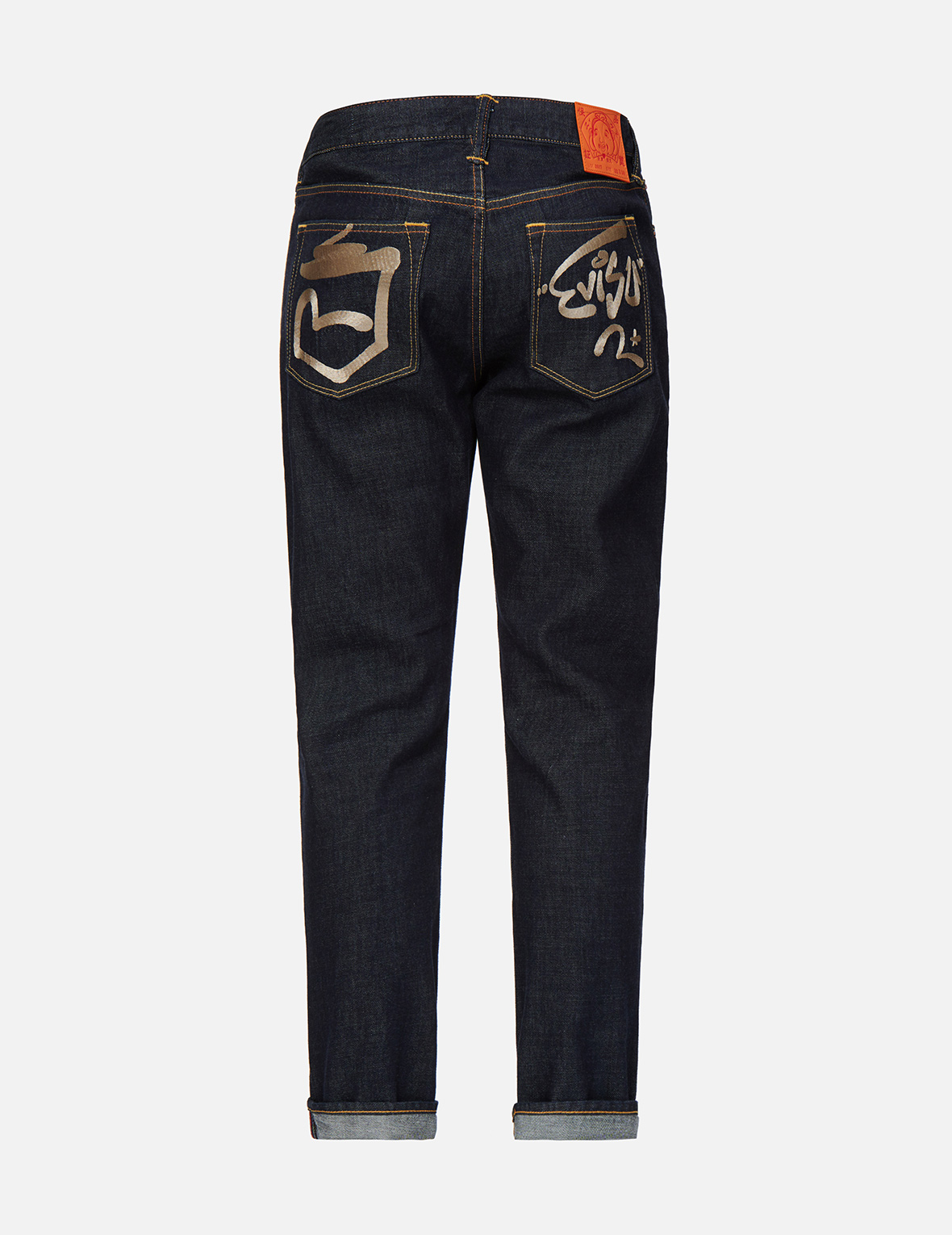 Graffiti Seagull and Logo Embroidered Carrot Fit Jeans #2017